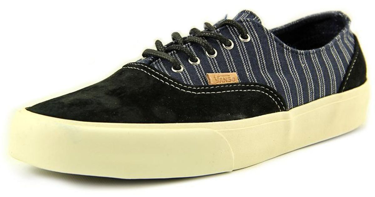 af67416c81 Lyst - Vans Era Decon Ca Round Toe Leather Sneakers in Black for Men