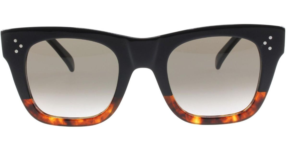 6d8a00b15de7 Lyst - Céline Sunglasses 41089  s 0fu5 Blackhavanatort