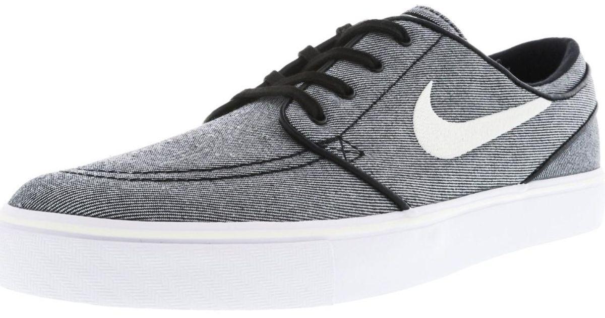 8e171c2b931f Lyst - Nike Zoom Stefan Janoski Canvas Ankle-high Skateboarding Shoe - 8m  in Black for Men
