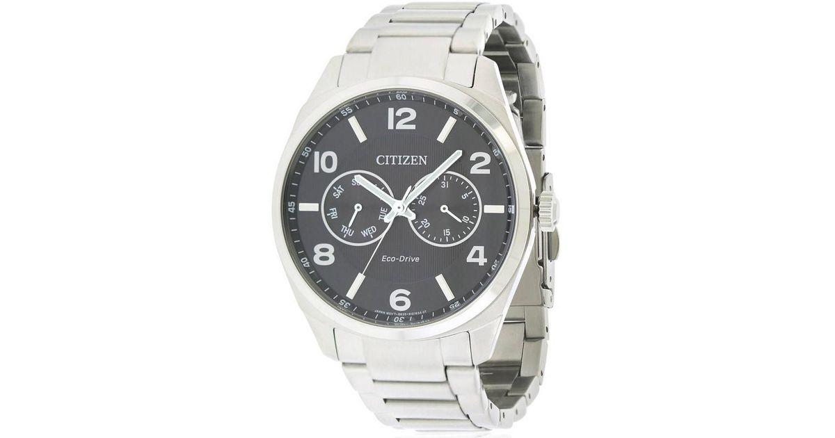 lyst citizen dress ao9020 84e black dial watch in metallic for men