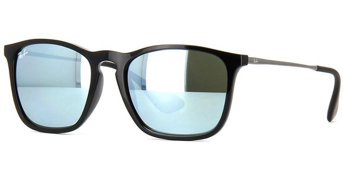 aabf83b348 Lyst - Ray-Ban 0rb4187 601 30 54 Black green Mirror Silver Chris Youngster  Sunglasses