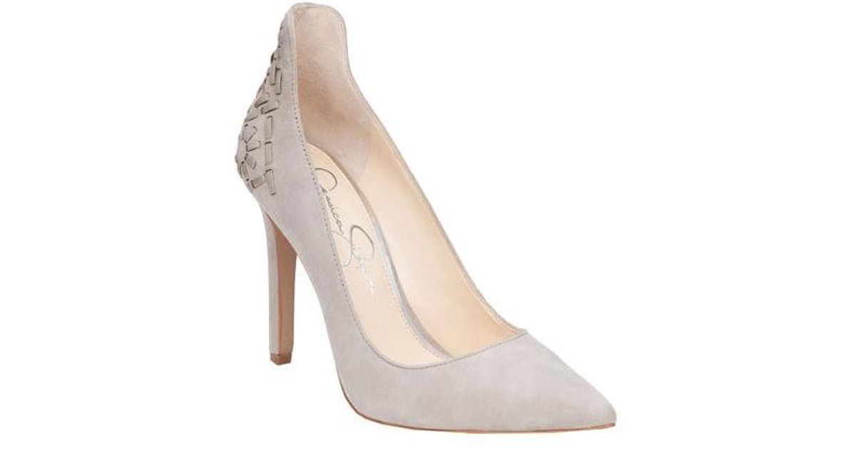 884fc85c8b5e Lyst - Jessica Simpson Crampell Pump in Natural