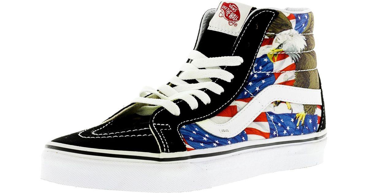 130b66b16e85 Lyst - Vans Sk8-hi Reissue Free Bird Black   True White High-top Canvas  Skateboarding Shoe in Black for Men