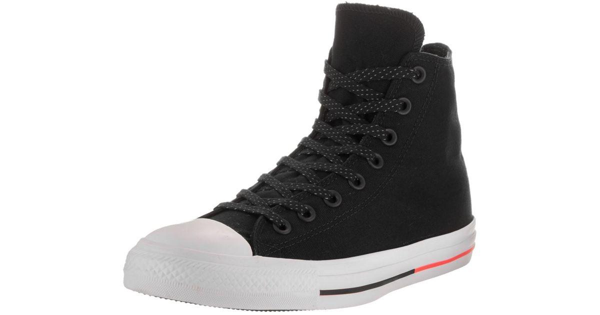 98bddb806b3b88 Lyst - Converse Unisex Chuck Taylor All Star Hi Black white lava Basketball  Shoe 10 Men Us   12 Women Us in Black