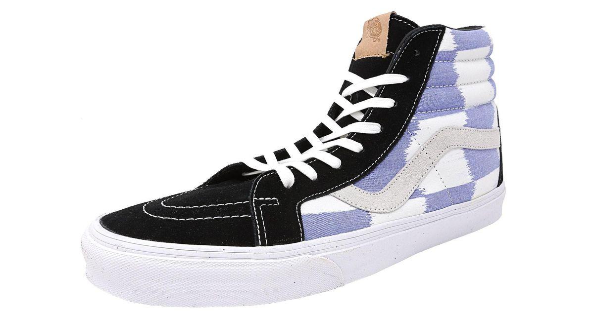 9f6393274a027d Lyst - Vans Sk8-hi Reissue Ca Glitch Check Black   Blue White High-top  Canvas Skateboarding Shoe - 13m for Men