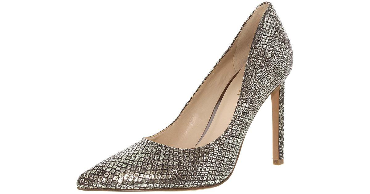 d9f33f01cd95 Lyst - Nine West Tatiana Metallic Light Gold Ankle-high Leather Pump in  Metallic