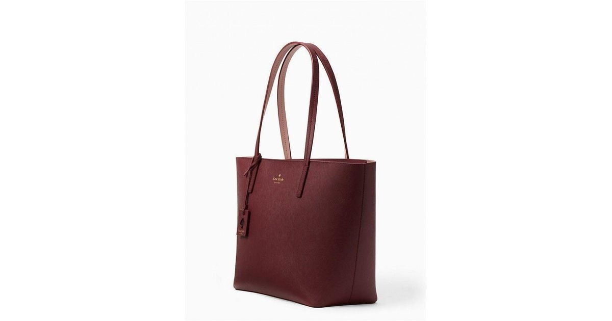 be866316399a Lyst - Kate Spade Kate Spade Scott Place Lida Burgundy Leather Tote Bag