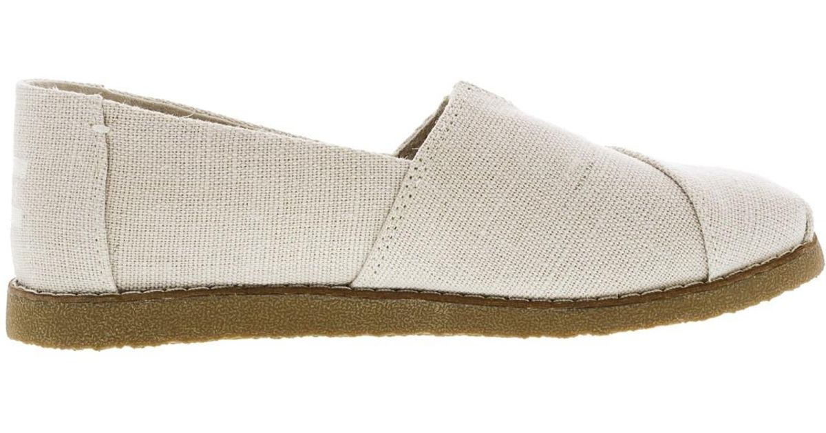 6d9bbc0222 Lyst - Toms Alpargata Crepe Heritage Canvas Ankle-high Slip-on Shoes - 7m  in Natural for Men - Save 4%