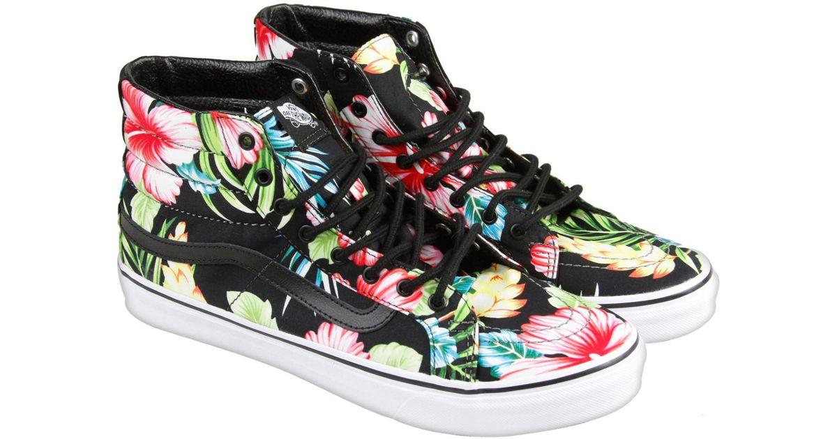 5c14cad64d Lyst - Vans Hawaiian Floral Black Mens High Top Sneakers in Black for Men