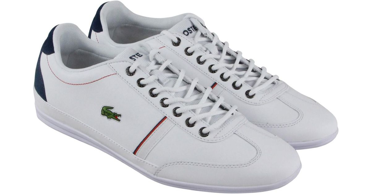 cc3181bca Lyst - Lacoste Misano Sport 118 1 Cam White Navy Lace Up Sneakers for Men