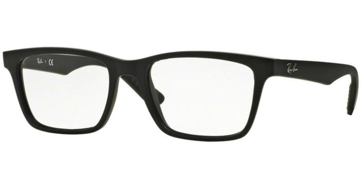 5c6136bb568 netherlands lyst ray ban eyeglasses optical rx 7025 2077 matte black in  black 9c8b6 273b4