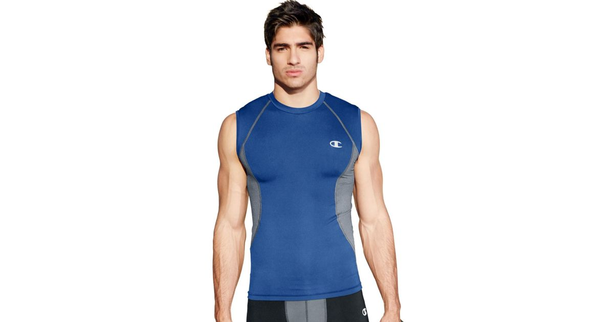 3d434383b Lyst - Champion `s Gear Compression Muscle Tee in Blue for Men