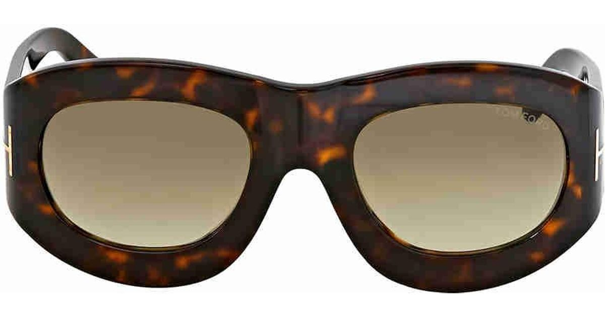 8db8d99923 Lyst - Tom Ford Mila Grey Gradient Oval Sunglasses in Gray