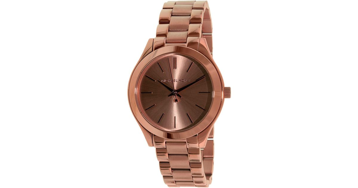 72c14c8ca0a1 Lyst - Michael Kors Runway Mk3513 Rose Gold Stainless-steel Quartz Fashion  Watch in Metallic