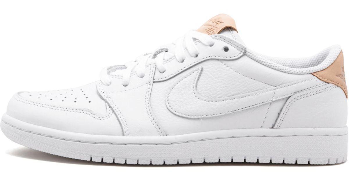 best sneakers 5dbc9 98fe5 Lyst - Nike Air Jordan 1 Retro Low Og Premium White vachetta Tan-white  905136-100 in White