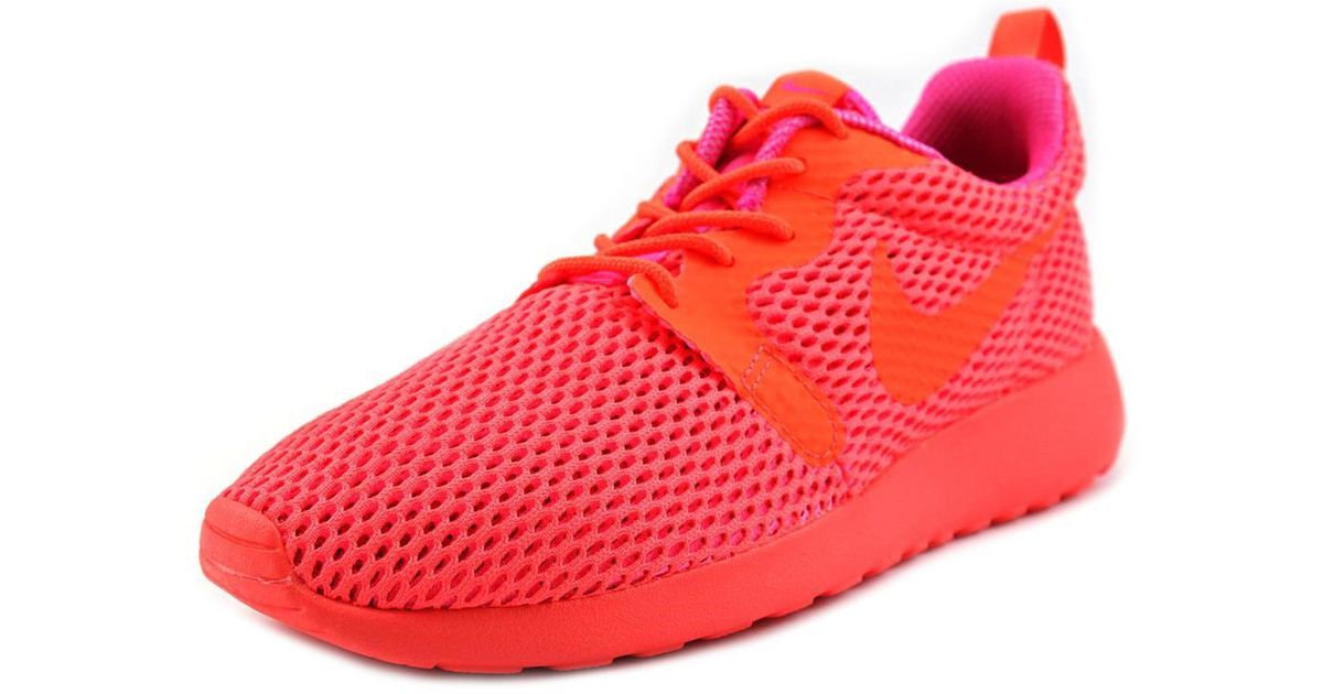 quality design 6479b 71386 Nike Roshe One Hyp Br Women Us 6 Orange Fashion Sneakers in Red - Lyst