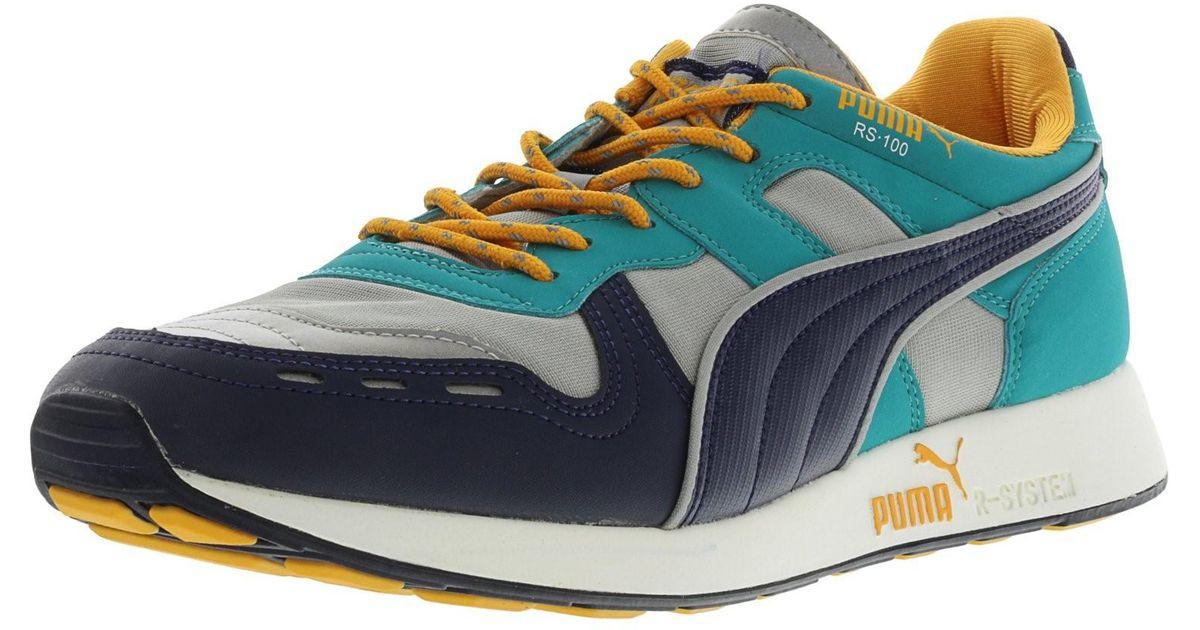 fd4e50631a6d83 Lyst - Puma Rs100 Aw Men Us 10 Gray Sneakers Uk 9 Eu 43 in Blue for Men