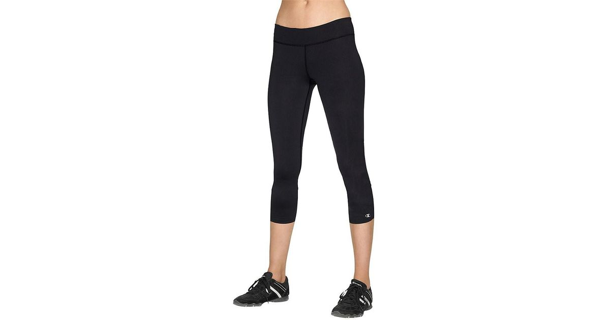 f2751ec4556cbf Lyst - Champion Double Dry Absolute Workout Fitted Knee Tights in Black