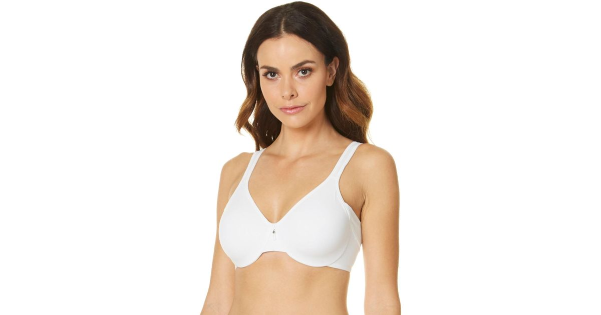 a5e44d100832d Lyst - Bali Df1005 One Smooth U Minimizer Side And Back Smoothing Bra in  White