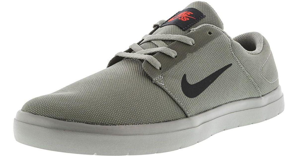 7a327e1ec307 Lyst - Nike Sb Portmore Ultralight Ankle-high Skateboarding Shoe 9.5m in  Gray for Men