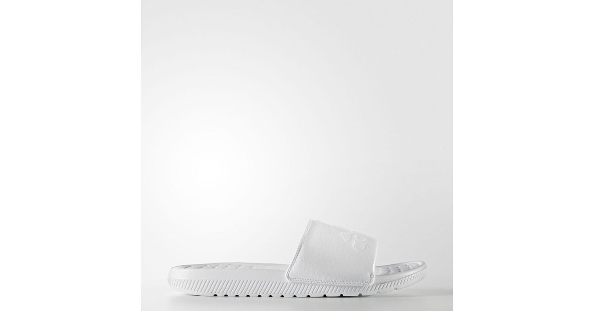 1e0aa8bdb51977 Lyst - Adidas Originals Voloomix Graphic Slides in White for Men