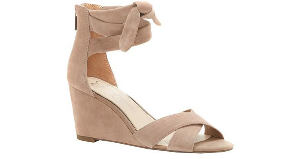 77837c7bff Lyst - Jessica Simpson Cyrena Wedge Sandal in Natural