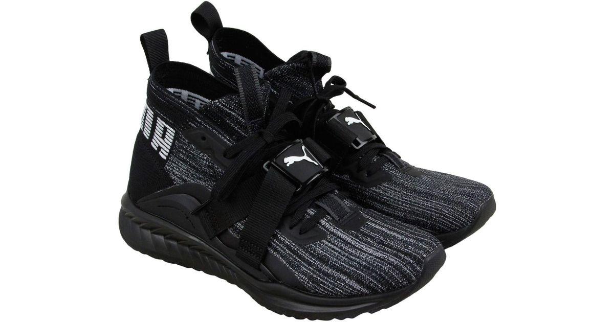 fd0a78e2f Lyst - PUMA Ignite Evoknit 2 Asphalt White Lace Up Sneakers in Black for Men