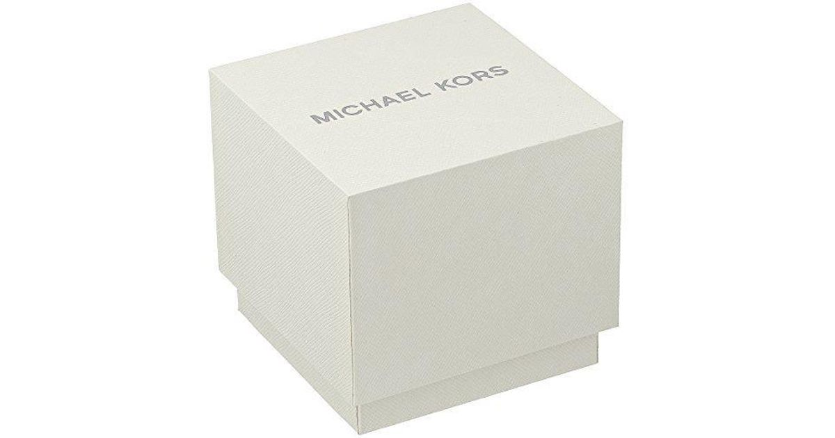 7c2192ff5b9 Lyst - Michael Kors Parker Red And Gold Watch Mk6427 in White