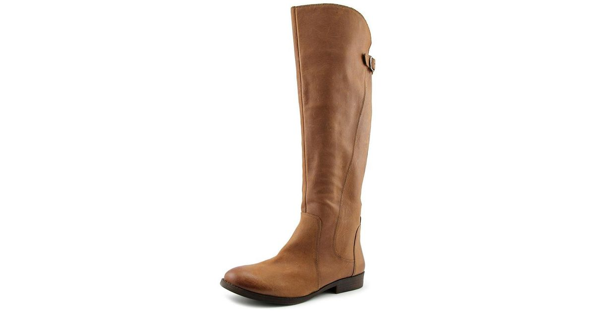 16dbc8619f5 Lyst - Lucky Brand Zepia Women Round Toe Leather Brown Knee High Boot in  Brown