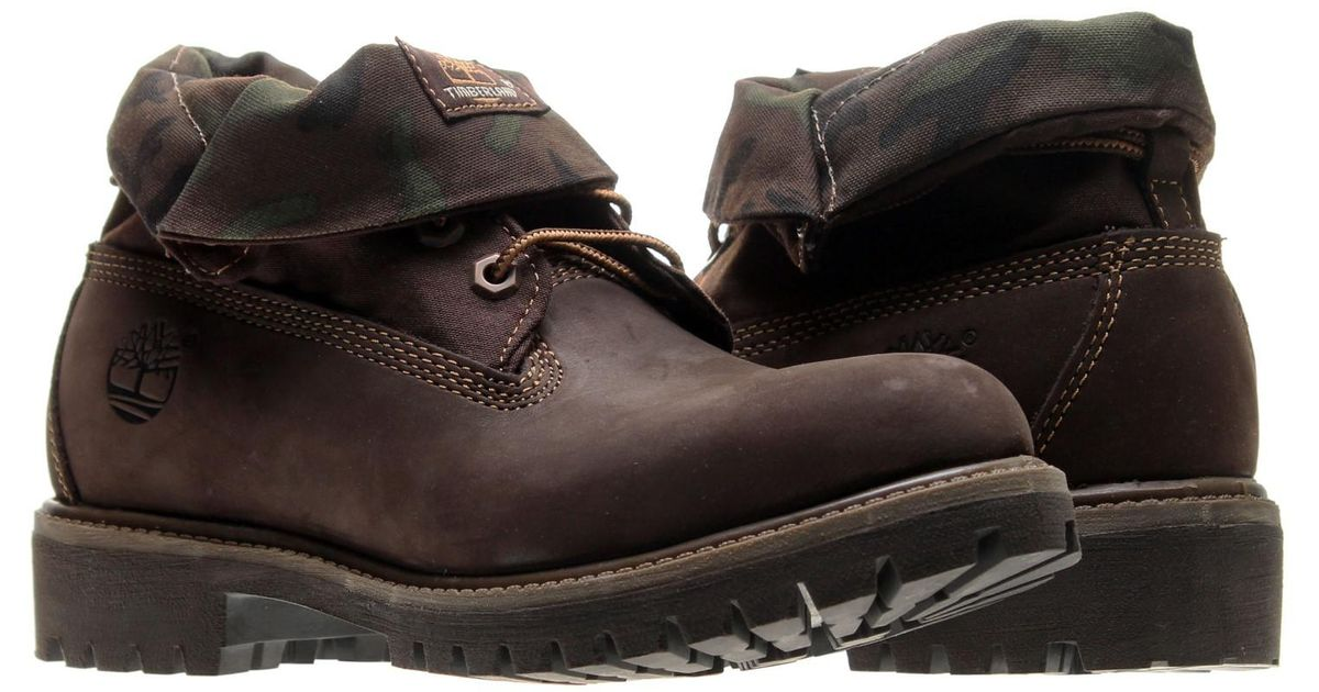 b70f83445e4 Timberland - Multicolor Red Briar Nubuck With Camo Icon Roll-top Boot (12  D(m) Us) for Men - Lyst