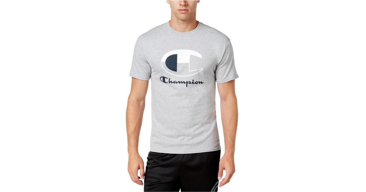 852bb72ca80a Lyst - Champion Mens Colorblock Logo Graphic T-shirt Grey 2xl in Gray for  Men