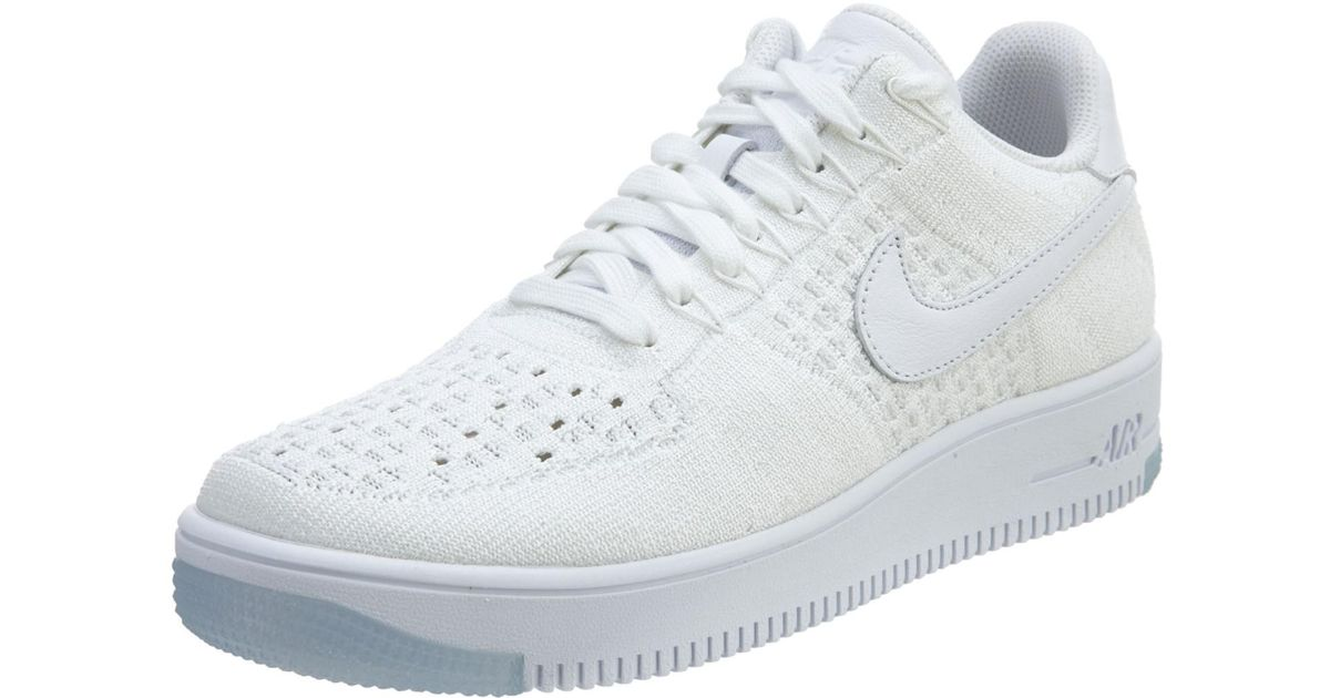 premium selection bfda9 43f68 Nike - Af1 Ultra Flyknit Low White/white/ice Basketball Shoe 10 Men Us for  Men - Lyst