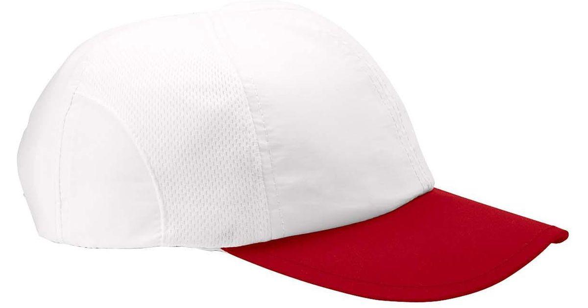 789708a9c3b3e Lyst - Champion C6712 Baseball Cap Moisture-wicking Mesh White scarlet One  Size in White