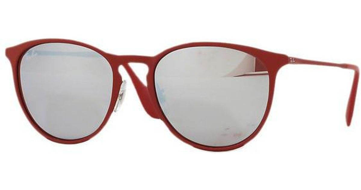 16020fc39a Lyst - Ray-Ban 0rb3539 9023b5 54 Rubber Bordo  bordo  Light Flash Grey  Youngster Sunglasses in Gray