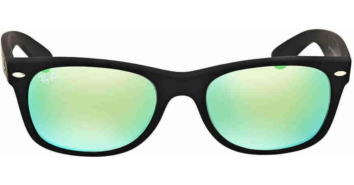 7bf0e85f6e Lyst - Ray-Ban Ray Ban New Wayfarer Green Flash Sunglasses in Green for Men