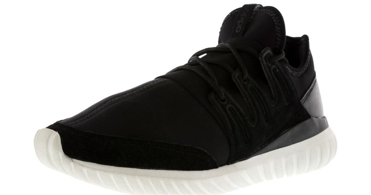 Lyst - Adidas Tubular Radial Core Black   Crystal White Ankle-high Fabric  Fashion Sneaker - 9m in Black for Men 2bf525656