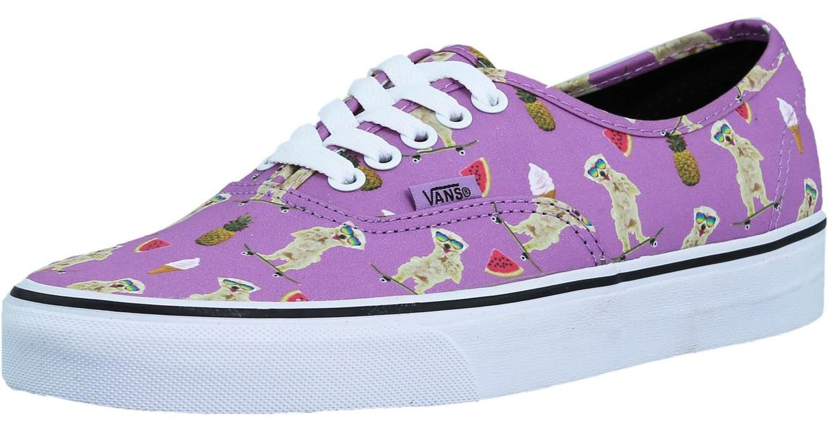 5eb1358f48d6 Lyst - Vans Authentic Pool Vibes African Violet Ankle-high Canvas  Skateboarding Shoe in Purple