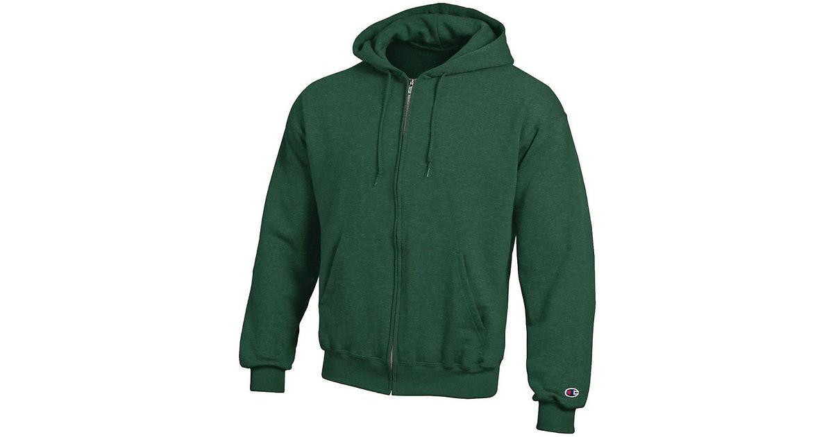 de529abb Lyst - Champion S800 Double Dry Eco Full-zip Hooded Sweatshirt in Green for  Men