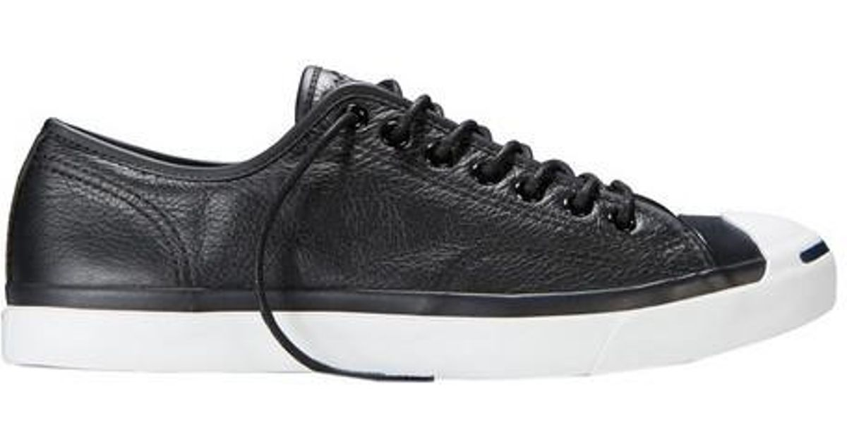 f7397e6e Converse Unisex Jack Purcell Tumbled Leather Ox Sneaker in Black - Lyst