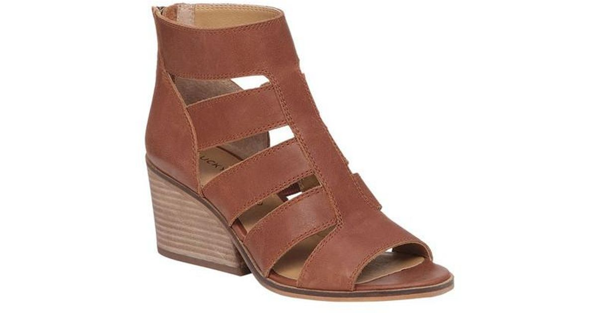9ce1039c9bed Lyst - Lucky Brand Sortia Gladiator Sandal in Brown