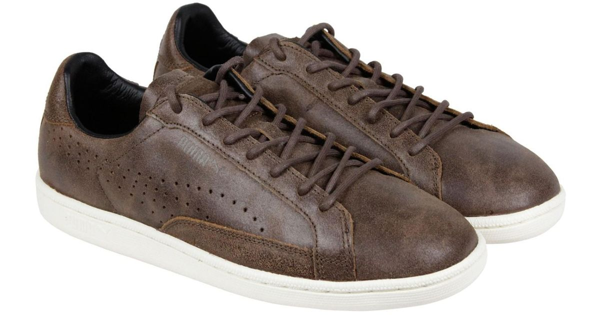 Lyst - PUMA Match 74 Citi Series Carafe Carafe Whispher White Lace Up  Sneakers in Brown for Men 0099ee42b