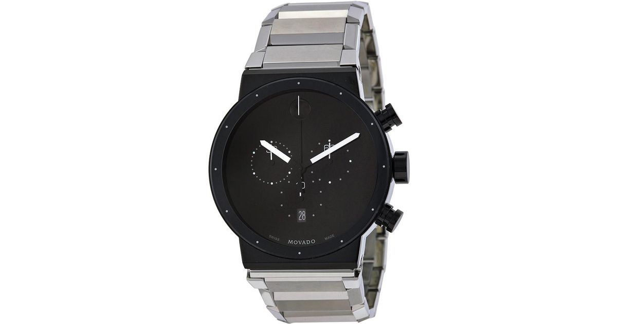 Lyst - Movado  sapphire Synergy  Chronograph Bracelet Watch in Black for Men 41a894e95