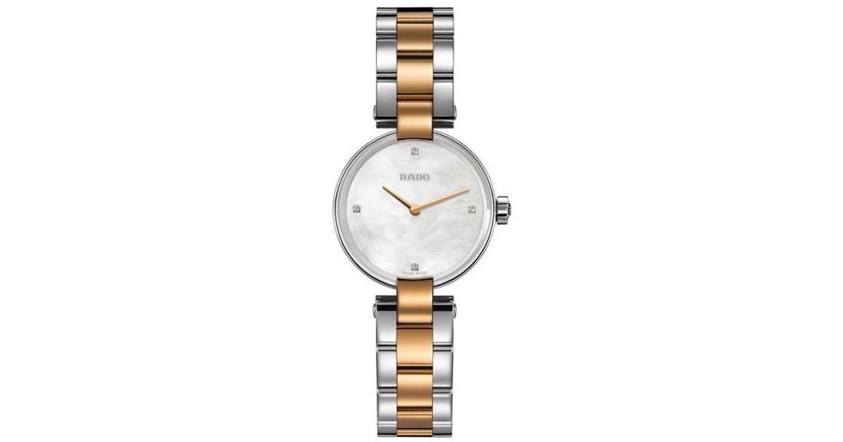 beb3c7aae4db Lyst - Rado Coupolse Mother Of Pearl Diamond Dial Ladies Watch R22854913 in  Metallic