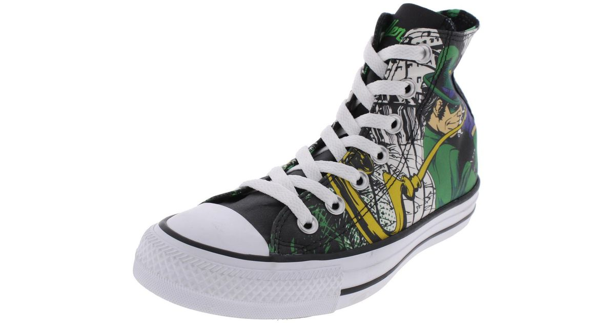 ff41f1785a90 Lyst - Converse The Riddler Printed High Top Skateboarding Shoes