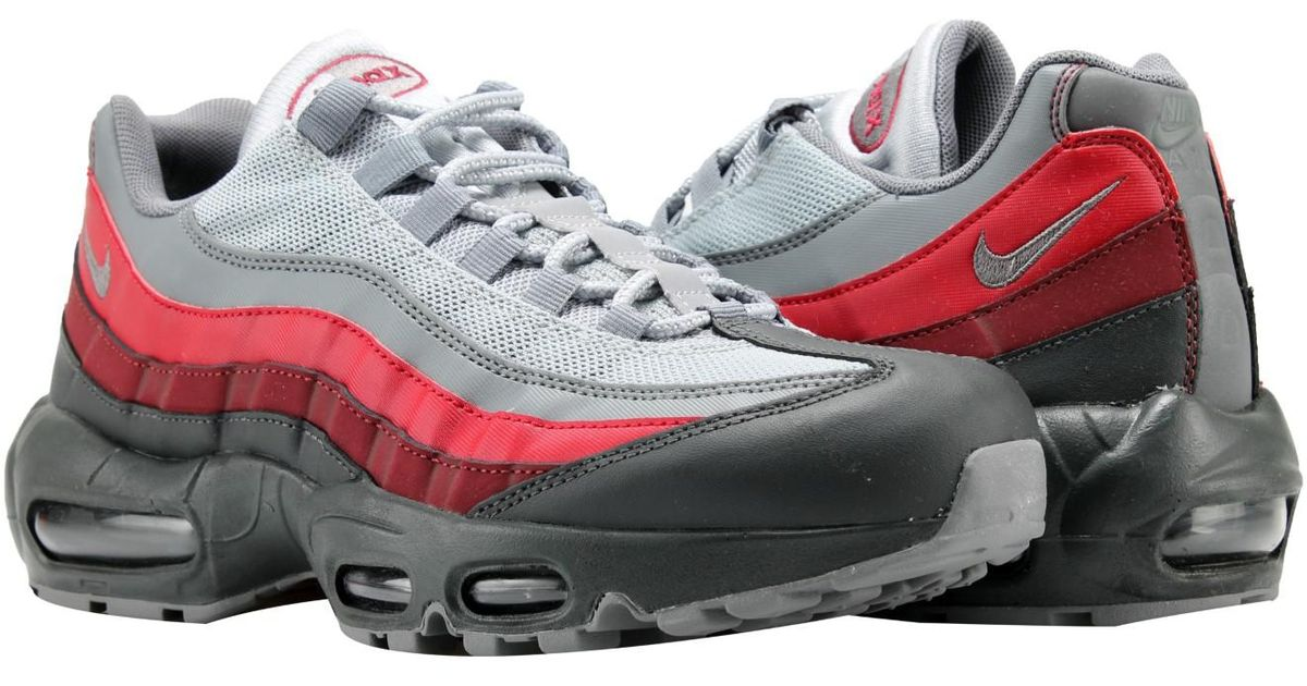 07f6c6fad8 Nike Air Max 95 Essential Anthracite/grey-red Running Shoes 749766-025 in  Gray for Men - Lyst