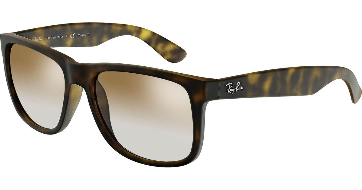 e97d1605cb Lyst - Ray-Ban Justin Classic Tortoise Sunglasses in Brown