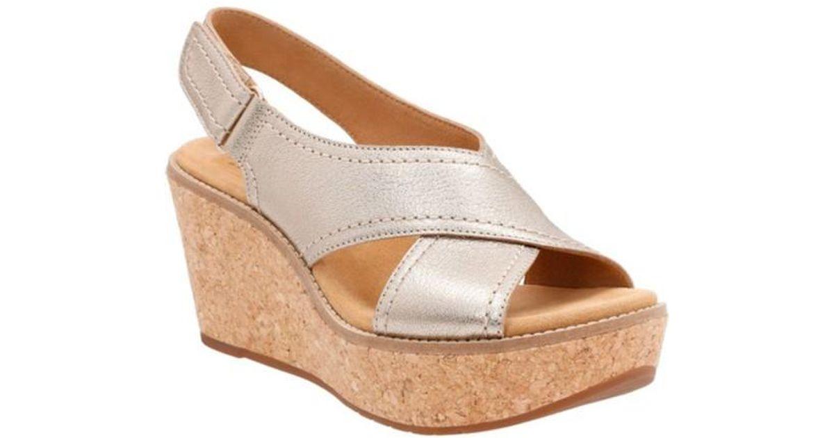 1f0a59608c Lyst - Clarks Aisley Tulip Wedge Sandal