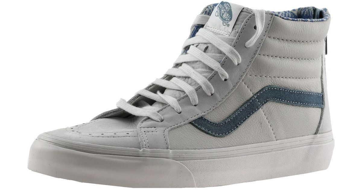 f60d654d6e Lyst - Vans Sk8-hi Zip Ca Leather And Nubuck Blanc De Ankle-high Fashion  Sneaker - 12m   10.5m in Gray for Men