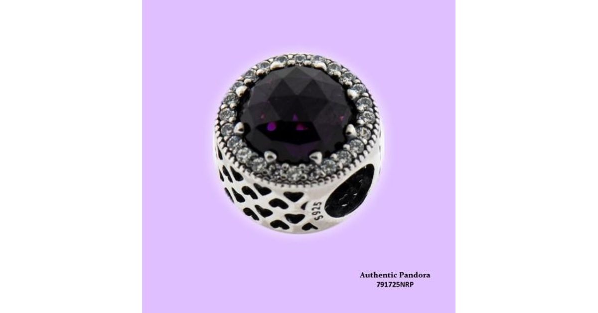 49f6f2ccc PANDORA Royal Purple Radiant Heart Charm In 925 Sterling Silver, 791725nrp  - Lyst