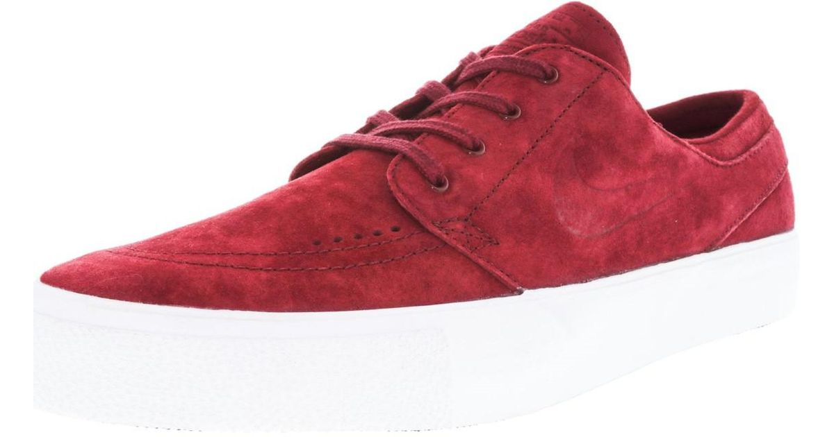 best cheap ff2a9 a1f7a Lyst - Nike Zoom Stefan Janoski Prem Ht Team Red team Red White Skate Shoe  10.5 Us in Red for Men